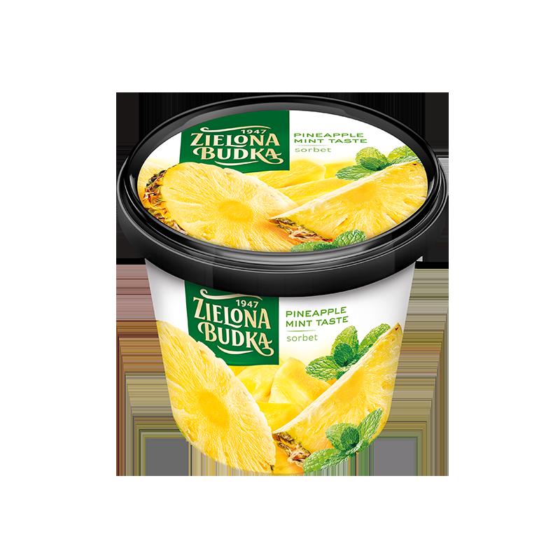 Zielona Budka Sorbet Ananasowy z miętą